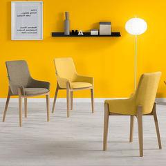 RUICHANG实木餐厅椅 现代简约时尚酒店餐桌椅子组合 家用靠背椅凳 伊姆斯椅XP浅灰色 RSC1004