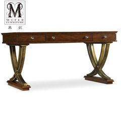 High-end custom furniture, European style desk, American desk, new classical computer table, solid wood desk, PA17 Size and color can be customized no