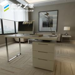 White desktop baking computer desk, fashionable simple rotating desk, Corner desk, home notebook desk Computer desk: 140*60*75 CM