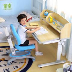 Star Children desk student desk desk junior high school health prevention myopia can lift desks and chairs E801Q grain color toner Chair Set