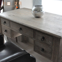 Foreign trade / export Nordic furniture / French / American / European / solid wood desk / country / pastoral style desk Army green no