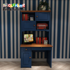 Magic home, children's study furniture, 1 meters, 2 solid wood right angle desk, bookshelf combination, desk, learning table, bookshelf