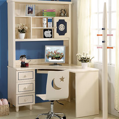 Money buys furniture, children's computer desk, book desk, solid wood desk, corner book desk, right angle book desk, combined bookshelf and post Corner of Taiwan + chair yes