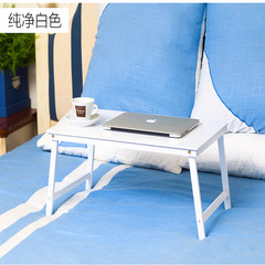 Folding notebook computer table, bed with small table, dormitory simple desk learning desk white