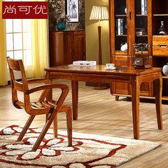 Modern minimalist desk desk new Chinese zingana wood computer desk household economic wood computer desk Desk