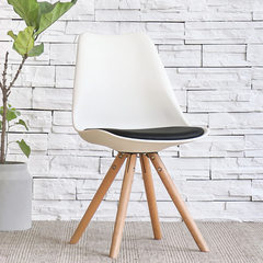 The chair of modern minimalist office chair chair home white tea shop with creative personality, the Nordic chair White black pad