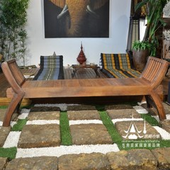 Thailand teak furniture bed stool stool stool stool, the lobby of the hotel room collapse