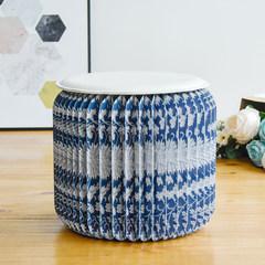 The eighteen Nordic fashion creative household paper stool living room stool seat stool stool blue white Scandinavia 28cm high stool white mat