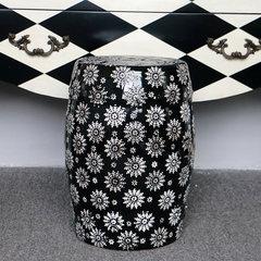 Modern minimalist Black Snow ceramic drum stool stool seats are creative Home Furnishing decoration furniture