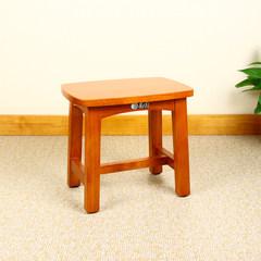 Shang Tian wood stool outdoor portable small square stool children fishing stool bench seats oak shade stool