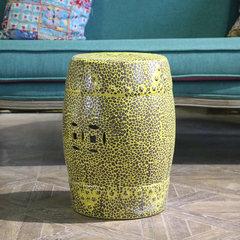 Jingdezhen yellow hand hard ceramic drum stool southeast wind drum pier embroidered personality seats soft decoration Decor