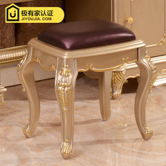 European makeup chair stool stool American shoes stool court seat bench Champagne Gold Package Express Ivory silver velvet cushion line
