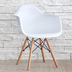 Discuss the creative fashion leisure chair chair armrest backrest chair with modern minimalist coffee restaurant seats Green + wooden feet