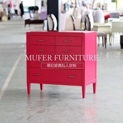 High end custom furniture, American new classical European style beech bedroom side cabinet, entrance cabinet GC733 Ready Size and color can be customized