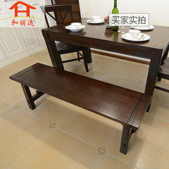 Solid wood long stool, Manchurian ash restaurant stool, bed end stool, American minimalist restaurant furniture, HH furniture