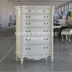 High-end custom furniture, American new classical beech bedroom cabinet, living room European carved side cabinet GC492 Ready Color size can be customized