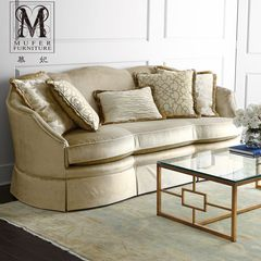 High-end custom furniture, American style rural living room fabric, European style solid wood fabric, three people sofa HC186 Three people Size and color can be customized