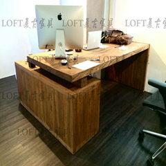 Simple wood desktop home computer desk desk president upscale atmosphere boss desk desk work big desk 280*95*75 board 5cm