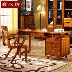 Wujin wood pure wood desk study furniture desk modern computer table PK walnut Desk