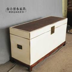 New Chinese made old solid wood storage bed tail box coffee table do old rattan chair furniture TR035-2A bed end stool table tea table