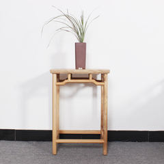 The old elm wood lacquer free flower new Chinese small log table Ming side several modern minimalist Zen furniture Ready side table