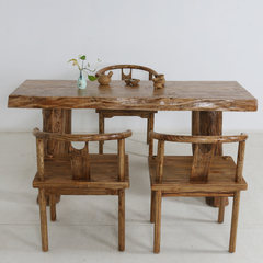 Sell the original ecological single board, kung fu tea table and chair combination, solid wood antique tea table, log modern Chinese style furniture ZXR420