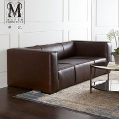 High-end custom furniture, American style country beech, solid wood leather, European style living room, three people sofa HC213 Three people Size and color can be customized