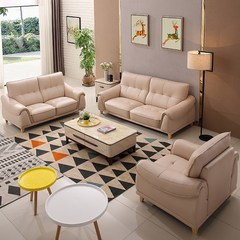 Simple modern leather sofa combination corner living room sofa furniture 1+1+3 Other Sofa 1+3 bit