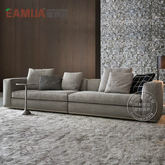 Eamija washable fabric sofa simple modern large-sized apartment living room sofa can be customized Many people Customizable colors