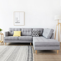 Large-sized apartment sofa combination double corner three home living room sofa cloth sofa sofa style detachable combination The blue unit has no armrests