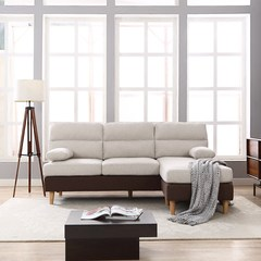 Japanese style minimalist modern small size fabric sofa combination Nordic living room bedroom three people sofa leisure chair Single Beige