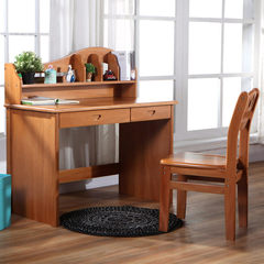 The American student desk desk wood desk for children red walnut wood furniture with drawers set 1100 learning table (excluding chairs)