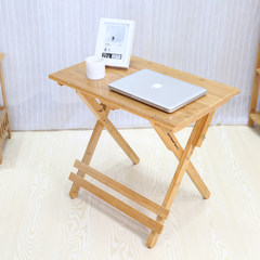 Bamboo chair and desk desk desk can suit children lifting and folding combined wooden desks and chairs Color folding table