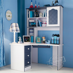 Children's computer desk, corner right angle desk, corner boy, desk, bookshelf, desk, desk Rectangular desk (excluding chair)