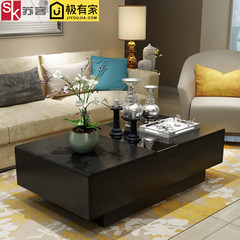 Su guest home modern minimalist coffee table, living room, small family store creative, Nordic TV cabinet combination suite furniture Ready Black 140*80*40cm