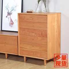 Nordic solid wood bucket cabinets, Japanese Cherry six bucket cabinets, black walnut side cabinets, wood wax, living room furniture customization Assemble Black walnut | spot 7 days of delivery