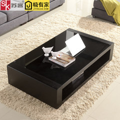 Su guest small unit coffee table, glass living room, simple modern dining table, Nordic TV cabinet combination suite furniture Ready 130*70*37cm