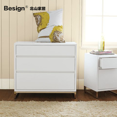 Beishan furniture custom made Nordic style bucket cabinet, simple fashion entrance cabinet, drawer cabinet, white side cabinet Assemble White bright paint