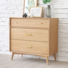 Solid wood bucket, white oak log color, modern simplicity, three bucket cabinet, living room furniture, drawer, North Europe locker Assemble Three bucket cabinet (Bai Xiangmu) -10 month 30 shipped