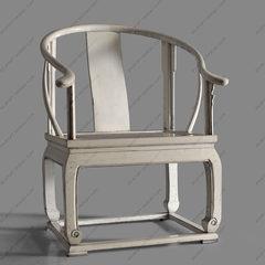 【摆设 新中式家具】仿古做旧榆木大圈椅会客电脑椅可改色单把价