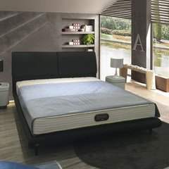 The large-sized apartment are double leather bed capable of storing the marriage bed 1.5 meters 1.8 meters of modern minimalist hammock 1500mm*2000mm black Air pressure structure