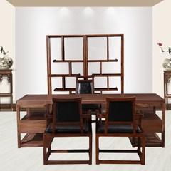 冠耀现代新中式家具实木书桌禅意书桌椅组合办公桌样板房书法桌 书架 是