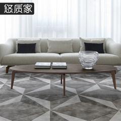 BLEND系列意大利设计北欧实木茶几简约现代小户型客厅咖啡桌家具 组装 边几(500*550)