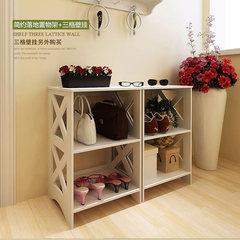 The living room floor rack shelf storage rack shelf storage simple bedroom shoe shoe shelf rack decorative frame 61*42*24cm