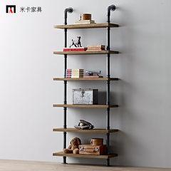 LOFT retro bedroom, study room, living room bookshelf shelf / coffee shop, office shelf, display shelf, bookcase Four layer 60x30x120cm