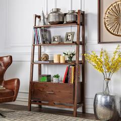 Fantastic quality Nordic classic wood furniture, CISCO walnut walnut bookcase / display shelf / bookshelf walnut