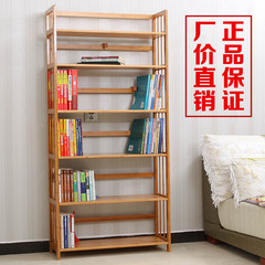 A simple combination of bamboo wood multilayer bookshelf bookcase bookcase storage rack rack of children nationwide shipping 80 long reinforcement five layer