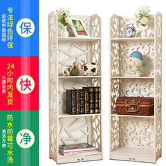 European style living room landing shelf, bedroom storage lockers, children's simple bookshelf, bathroom corner frame 120 high four piece set