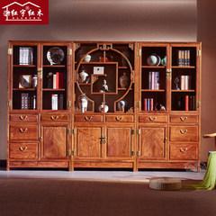 Chinese Mahogany Bookcase bookshelf wood shelf hedgehog rosewood rosewood Bookcase Library lockers Single bookcase 0.8-1 meters wide