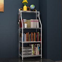 Creative bookshelf landing rack, household multifunctional modern economical storage rack, kitchen storage rack White sunflowers